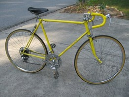 First bike Schwinn yellow