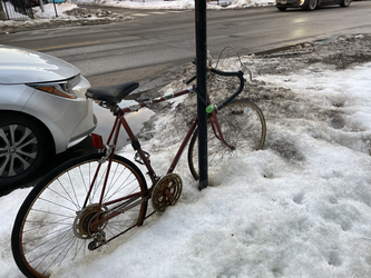Winter biking in Chicago